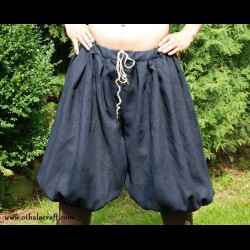 Rus Viking trousers from linen- dark blue