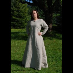 Natural linen Viking dress