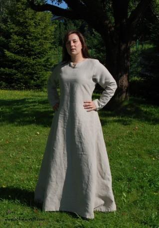 Natural linen Viking dress