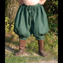 Rus Viking trousers from linen - dark green
