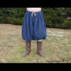 Rus Viking trousers from linen - blue