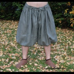 Short Rus Viking trousers from linen - khaki XXXL size