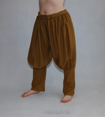 Rus Viking trousers from honey wool