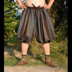 Short Viking trousers from - blue and brown stripes