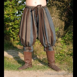 Rus Viking trousers – blue and brown stripes