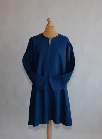Simple linen tunic – dark blue