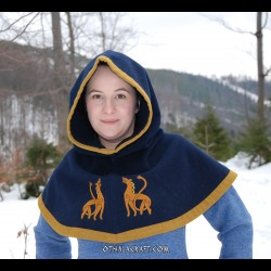 Hood from Hedeby – dark blue with embroidery