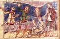 Linen tunic with embroidery Stuttgart Psalter (820-830AD)