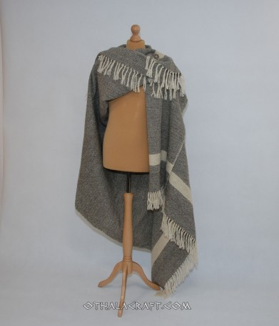 Diamond blanket - natural gray