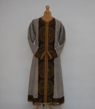 Kaftan with stamp printing silk