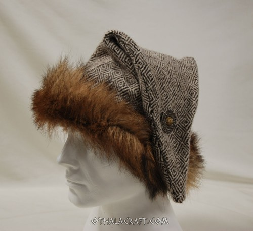 Diamond woolen triangle hat for Viking