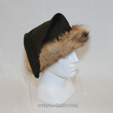 Brown triangle hat for Viking