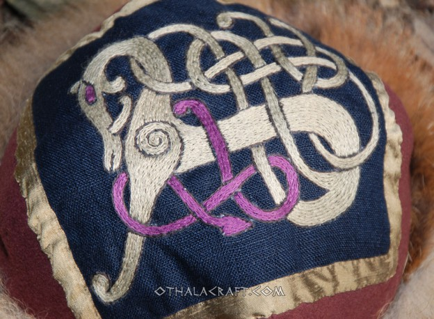 Viking hat with motif from a Scandinavian buckle