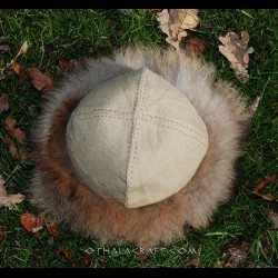 Viking hat - plant dyed wool