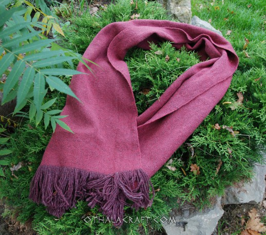 Hand woven shawl – dark red diamond
