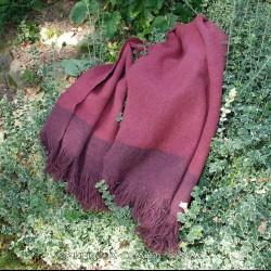 Hand woven shawl – dark red diamond