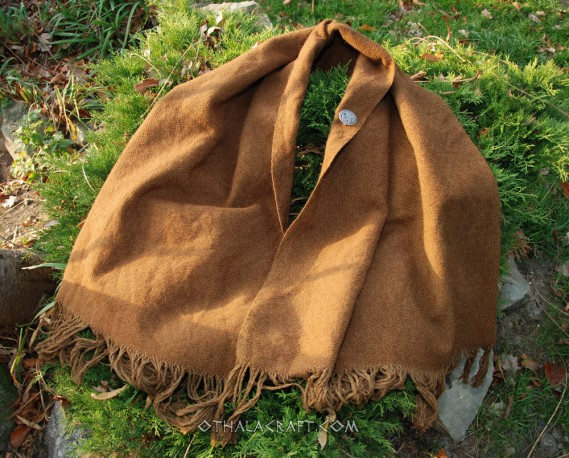 Hand woven shawl – walnut diamond