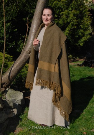 Herringbone blanket – blue