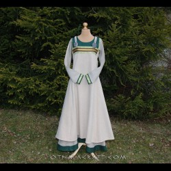 SET -Viking dress and apron dress with brocaded silk