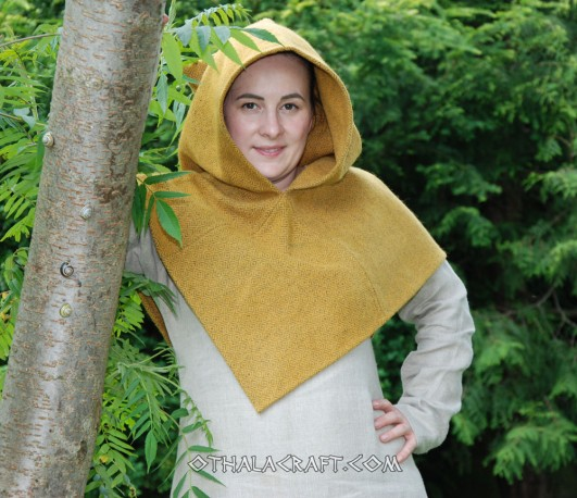 Woolen hood from Skjoldehamn - diamond wool