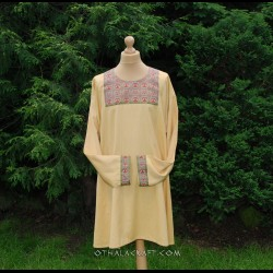 Byzantine tunic- woolen tunic with brocaded silk