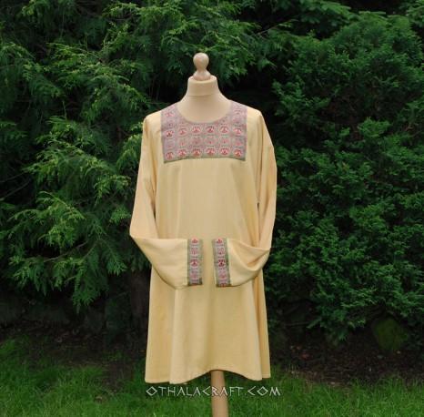 Byzantine tunic- woolen tunic with brocaded silk