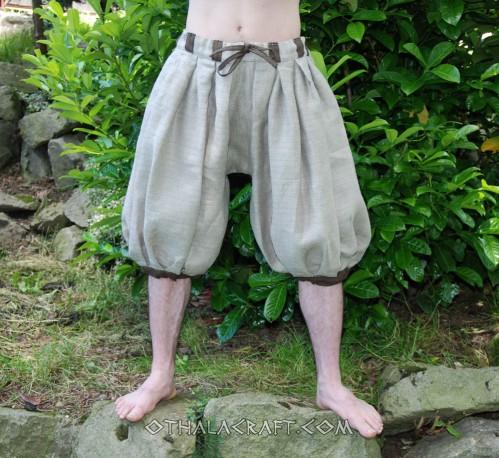 Haithabu trousers – natural linen/brown