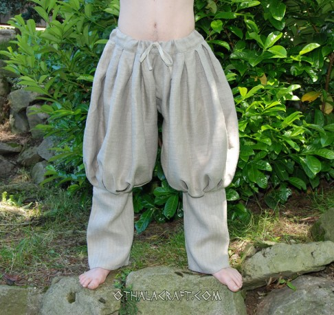 Viking trousers from raw linen