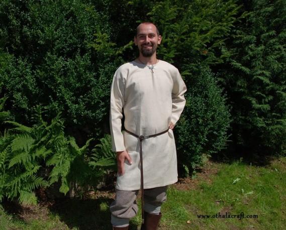 Simple linen tunic - ivory