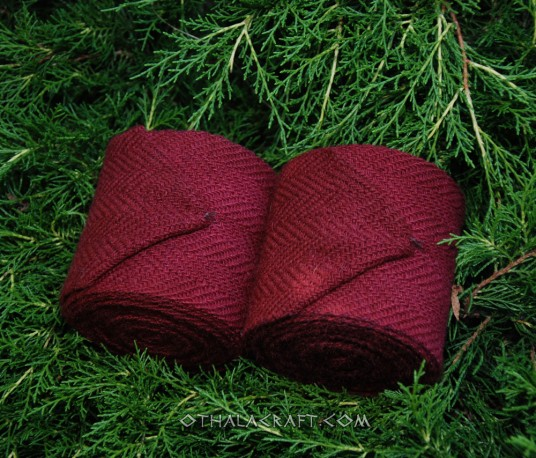 Leg wraps - natural wool color