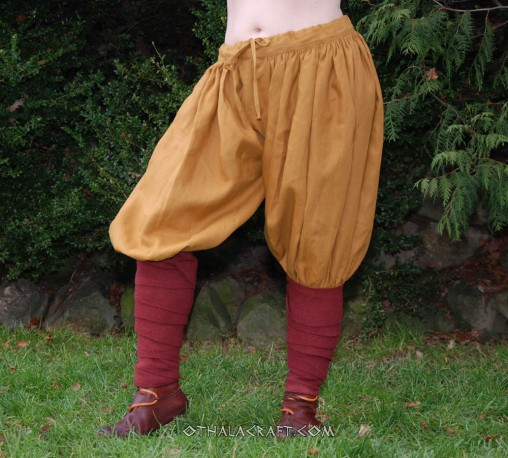 Rus Viking trousers from linen – yellow