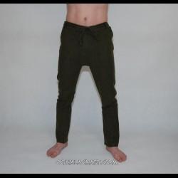 Woolen Thorsberg trousers – green herring bone