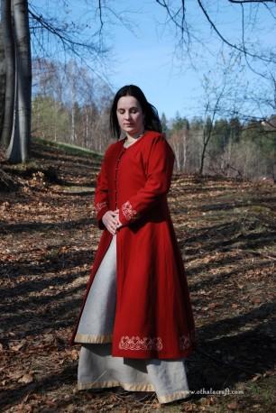 Red lady Viking coat