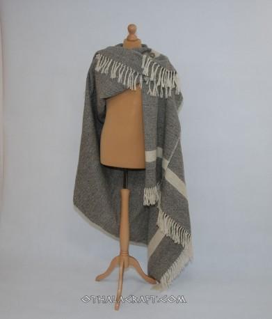 Diamond blanket - natural gray