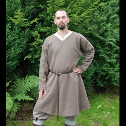 Hand sewn woolen Viking tunic, early medieval