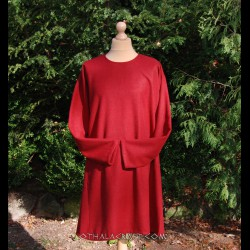 Viking woolen tunic, early medieval - dark red
