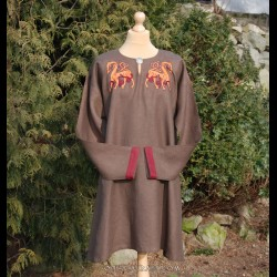 Woolen tunic for Viking with decorations