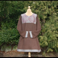 Tunic with stamp printed wool