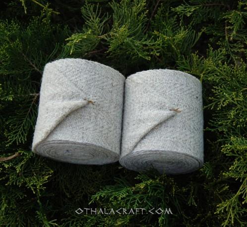 Leg wraps  diamond pattern – natural grey