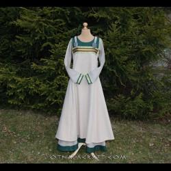 SET -Viking dress and apron dress with brocaded silk
