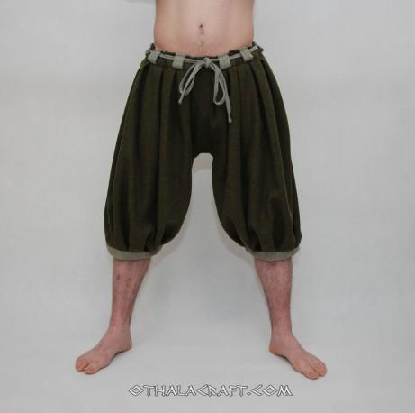 Haithabu trousers – dark green/honey