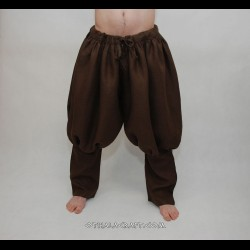 Rus Viking trousers from linen - brown linen