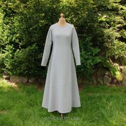 Gray woolen dress – diagonal pattern