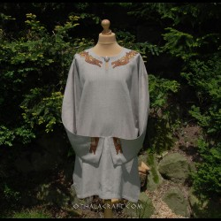 Linen tunic with embroidery, Viking, early medieval